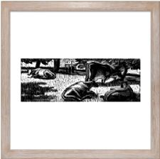 Cows in the Meadow state 2 - Ready Framed